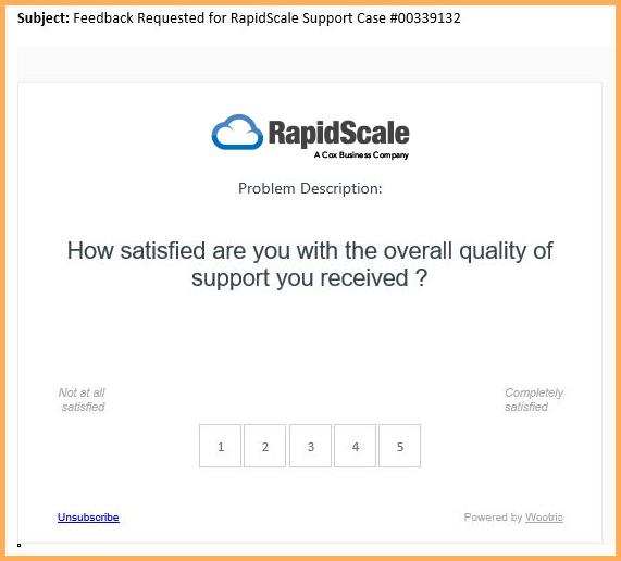 Customer Satisfaction Score Survey